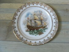 Gainsborough Fine China Collectors Plate, side plate size Tall Sail Boat Ship