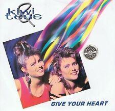 KIWI AND TESS Give Your Heart Vinyl Record 7 Inch Kickback 7KB2001 1990 EX