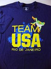 NEW TEAM USA Tee T shirt Size XL Blue RIO DE JANEIRO Olympics nwot