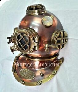 """Window Antique Helmet Diving Helmet Marine 18"""" Replica Door Knock US Navy Mark V"""