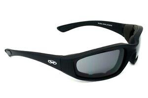 Motorcycle sunglasses/wraparound biker glasses + Free pouch 4 open face helmet