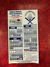 OMAHA ROYALS 1993 SCHEDULE MAGNET