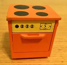 VERY VINTAGE LUNDBY Dollhouse Orange Four Burner Range & Oven Unit