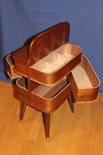 Nähkasten Tisch Beistelltisch Sideboard mid century box 50's 60's Teak 50er 50s