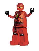 New In Box Kids LEGO Ninjago Kai Deluxe Halloween Costume Small or Medium