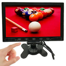 """10"""" inch LCD CCTV Monitor Screen 1024*600 HDMI 1080p Video Display Touch Buttons"""