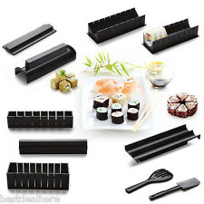 10 in 1 Sushi Maker Kit Rice Roll Mold Kitchen DIY Easy Chef Mould Roller Cutter