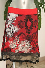DESIGUAL- Jolie jupe rouge et noire - Taille L - EXCELLENT ÉTAT
