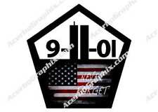 9/11 Never Forget USA America Sticker/Decal NYC Twin Towers