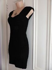 "Tight Fitting Little Black Dress ""ladybabe"" River Island Uk8"