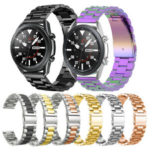 For Samsung Galaxy Watch 3 41mm Active 2 40 44 Band Stainless Steel Watch Strap