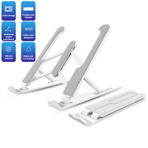 Adjustable Foldable Laptop Stand Desk Portable Notebook Riser Computer Holder HQ