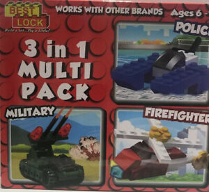Best lock 3 in 1 multi pack Toy Age 6-12 Military, Police & Firefighter