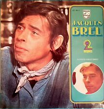 DOUBLE ALBUM 33 TOURS JAQUES BREL LA VALSE A MILLE TEMPS