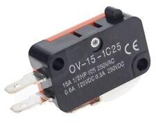 3 Pin Push Momentary switch On-OFF limit 15A 250V Interlock NC / NO, Repairs  UK