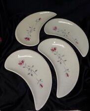 Franciscan Duet Pink Rose - Crescent Shaped Salad Plates - Set of 4