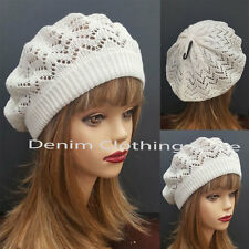 Women Winter Spring Summer Baggy Crochet Knit Slouchy Beanie Beret Cap Ski Hat