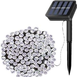Planet Solar 100 LED White Outdoor String Solar Powered Fairy Lights Garden