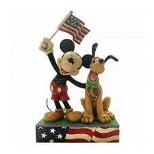 Disney Traditions Banner Day Mickey & Pluto Collectable Resin Figurine Gift Idea