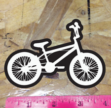 Black/White BMX Bike Sticker Decal Graphic Bicycle Bicycle Motocross 4""