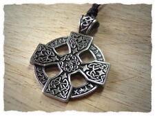 """Amulett """"Keltisches Kreuz"""" mit Halsband - Anhänger, keltischer Schmuck, Celtic"""