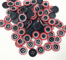 50pcs 4-holes Round Resin Buttons decoration Handicrafts Sewing clothes 13mm