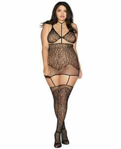 New Dreamgirl 0290X Plus Size Convertible Harness Bodystocking