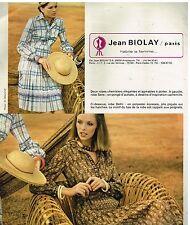Publicité Advertising 1978 Pret à porter les robes Jean Biolay