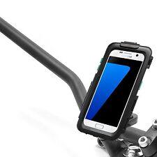 Motorrad Halter Samsung Galaxy S7 Hardcase wasserdicht mit Lenkerschelle