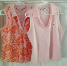 2 Women's Tommy Hilfiger Sleeveless Top- Polo  Size Large