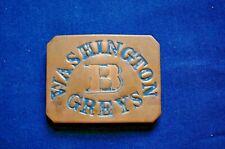 A Re-enactor Civil War/I.W. Period Militia Belt Buckle, Washington Grays, Co. B