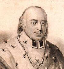 Portrait XIXe Clément-Auguste Droste zu Vischering Archevêque de Cologne 1841