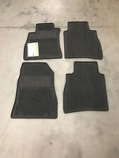 NEW OEM 2014-2017 NISSAN SENTRA 4 PC ALL WEATHER RUBBER FLOOR MATS - BLACK