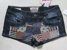 Hot Kiss American Patchwork Denim Shorts / Patriotic Red White Blue / 5 / BNWT