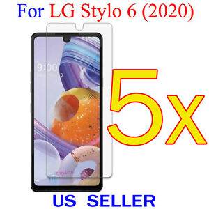 5x Clear LCD Screen Protector Guard Cover Shield Film For LG Stylo 6 (2020)