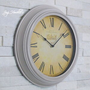Large Vintage Antique French Wall Clock Home Deco Stylish wall clock  34 cm