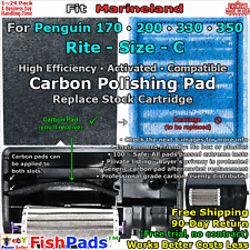 For Marineland Rite-Size C Penguin 170,200,330,350 Filter Polish Compatible Pads