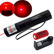 Red 1mW 650nm Laser Pointers Pen Lazer Light Visible Beam 16340 Battery Charger