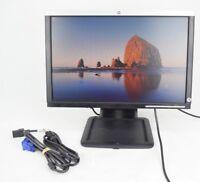 "HP LA1905wg 19"" Widescreen LCD Flat Panel Monitor Display VGA w/ Cords Grade B"