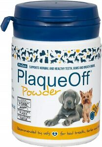 ProDen PlaqueOff Powder 60 g   For small dogs & cats   Bad breath, Plaque, Tarta