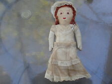 Old Cloth Painted Embroidered Doll