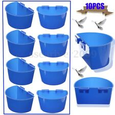 10pcs Cup Hanging Water Feed Drinking Cage Cups Poultry Gamefowl Rabbit Chicken