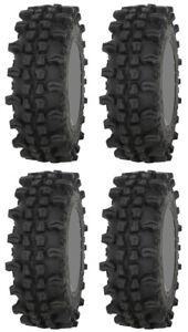 Four 4 Frontline ACP ATV Tires Set 2 Front 28x10-14 & 2 Rear 28x10-14