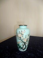 A SATO / JAPAN SIGNED APPEALING CLOISONNÉ VASE with TREE IN FULL BLOSSOM