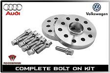 2 Pc Set Audi 20 MM Thick 5x100 mm & 5x112 mm Wheel Spacers W/ 14x1.5 Lug Bolts