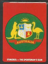 AUSTRALIA 1990 STIMOROL GUM ACB LOGO CRICKET TRADE CARD No 1