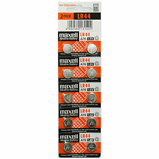 10x Maxell LR44 A76 AG13 357 303 SR44 L1154 Alkaline Battery Made in Japan NEW