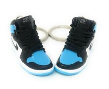 Hand Painted Retro High OG Jordan Pair of 3D Mini Shoe Keychains Chill Baby Blue