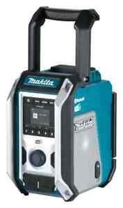 Makita DMR115 Netz- & Akku-Baustellenradio 10,8-18V Subwoofer Bluetooth AUX DAB+