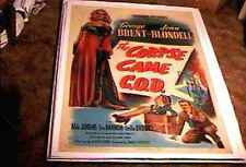 CORPSE CAME C.O.D. ORIG MOVIE POSTER 1947 LINEN JOAN BLONDELL